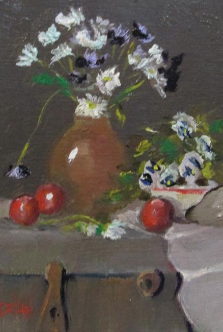 Art: Still Life with Daises by Artist Delilah Smith