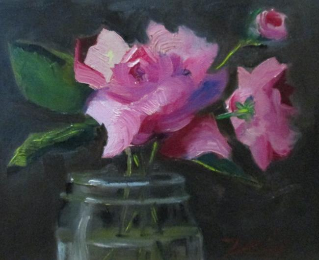 Art: Roses in a Jar by Artist Delilah Smith