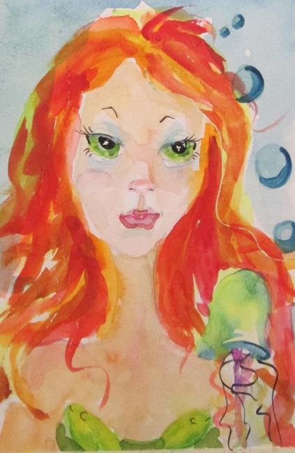 Art: Mermaid No. 17 by Artist Delilah Smith