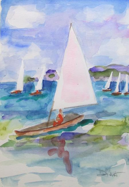 Art: Sailboats No. 13 by Artist Delilah Smith