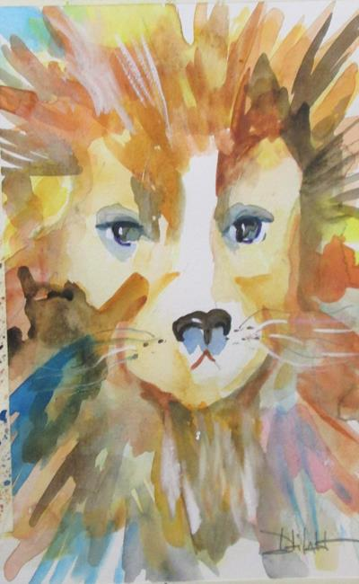 Art: Lion No. 2 by Artist Delilah Smith