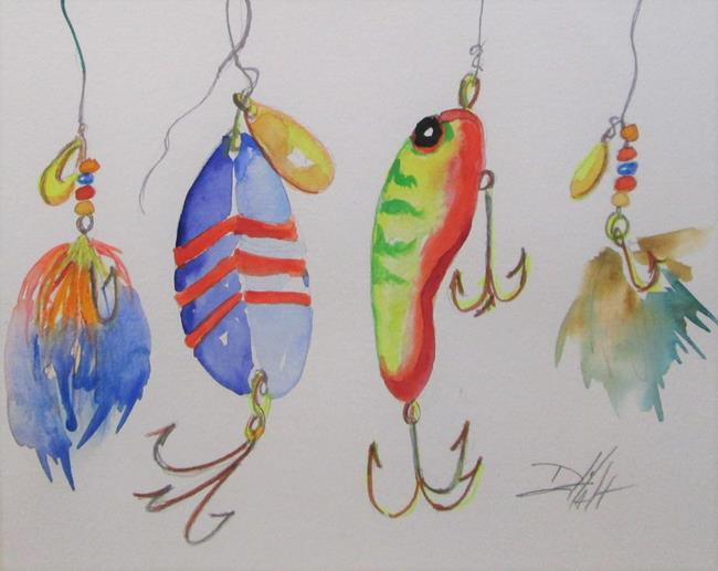 Art: Fishing Lure No. 9 by Artist Delilah Smith