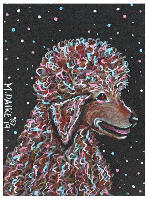 Art: Stars 1 Poodle by Artist Melinda Dalke
