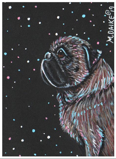 Art: Stars 2 Pug by Artist Melinda Dalke