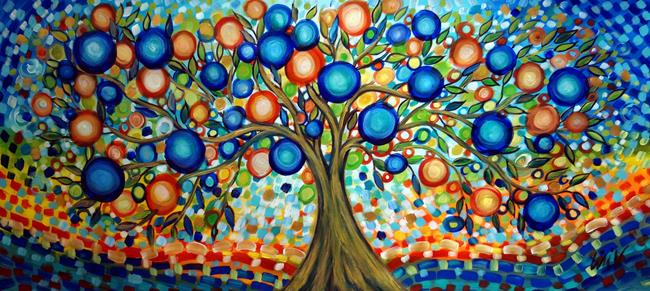 Art: The Tree of Life by Artist LUIZA VIZOLI