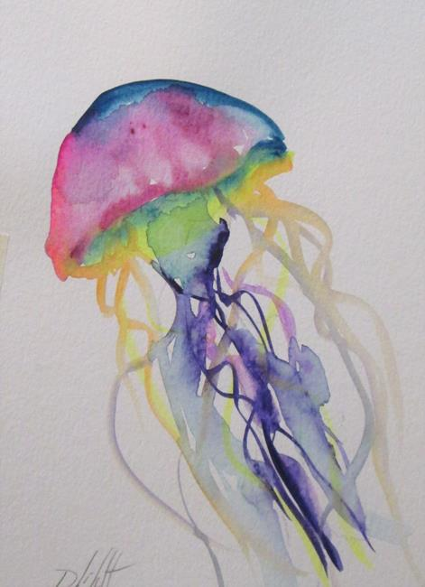 Art: Jelly Fish No.7 by Artist Delilah Smith