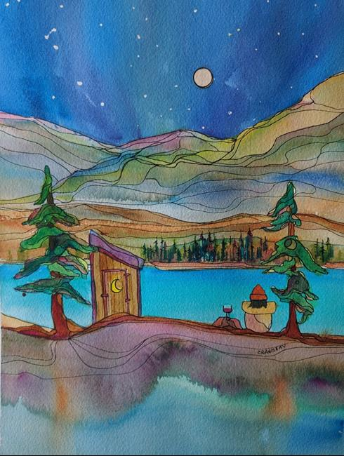 Art: All That is Needed (sold) by Artist Kathy Crawshay