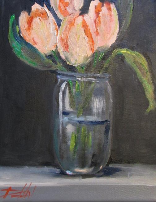 Art: Tulips in a Jar by Artist Delilah Smith