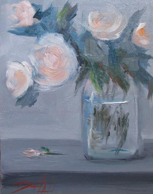 Art: Roses in a Jar No. 2 by Artist Delilah Smith