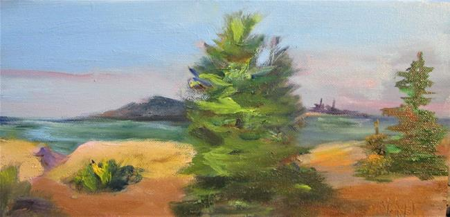 Art: Tree at the Lake by Artist Delilah Smith