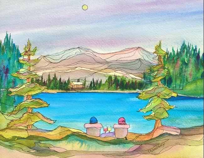 Art: Summer Evening by Artist Kathy Crawshay