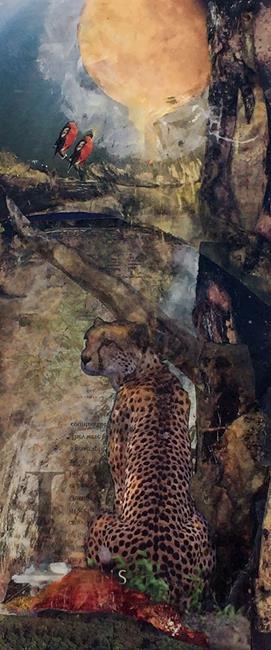 Art: Golden Hour Cheetah lr by Artist Alma Lee