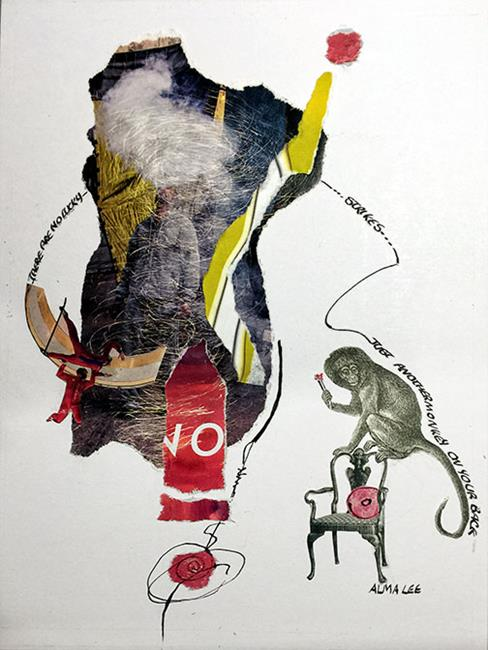 Art: Monkey on my Back by Artist Alma Lee