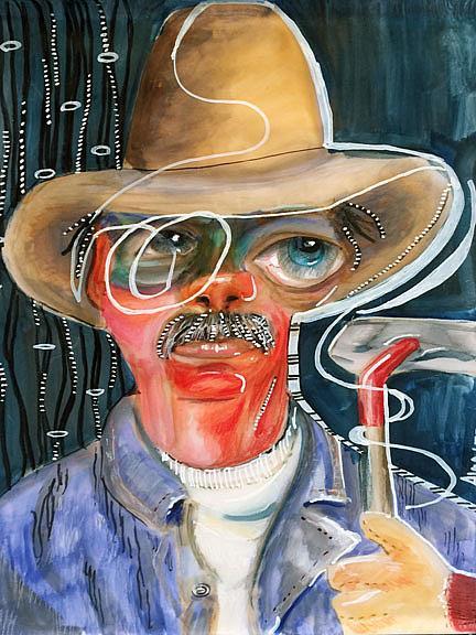 Art: farmer cowboy lr by Artist Alma Lee