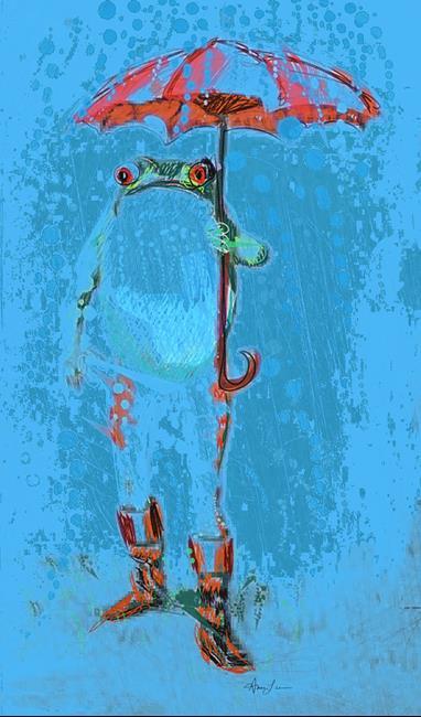 Art: Curse of Frogs lr by Artist Alma Lee