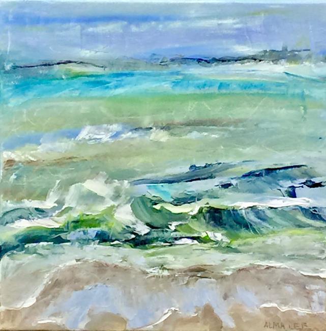 Art: Green Wave FIN by Artist Alma Lee