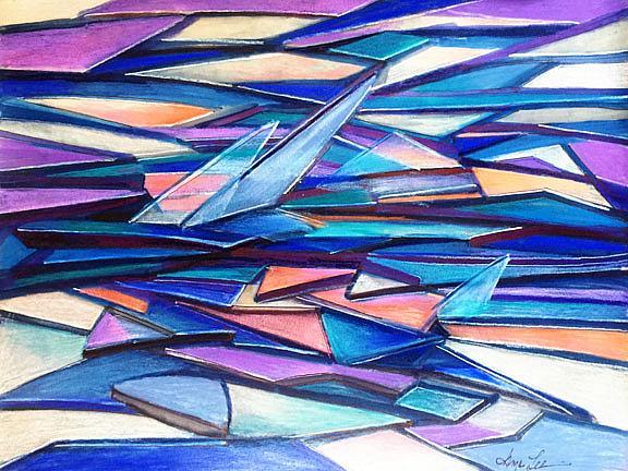 Art: ice shards lr by Artist Alma Lee