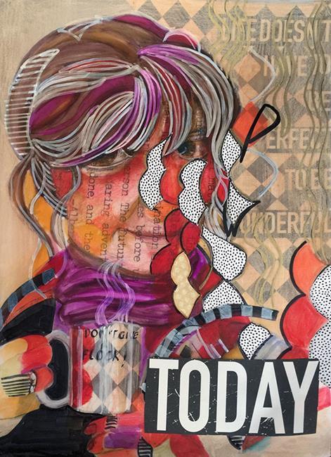 Art: LeeAnn Today lr lrg by Artist Alma Lee