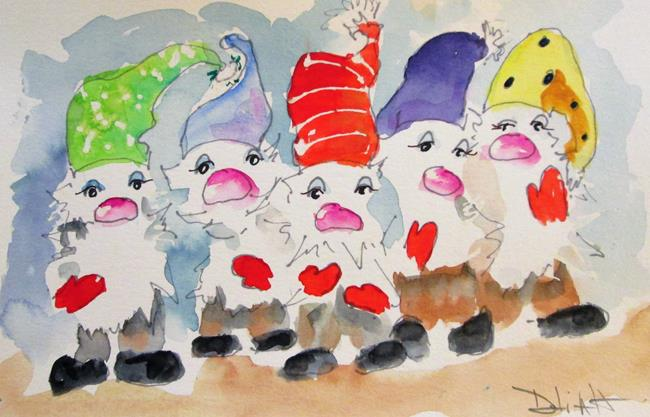 Art: Five Elves by Artist Delilah Smith