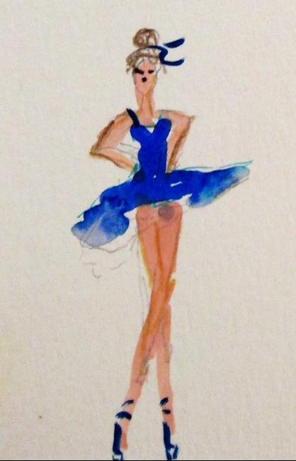 Art: Long Legged Dancer by Artist Delilah Smith