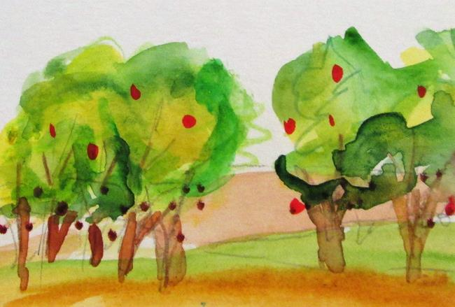 Art: Apple Orchard by Artist Delilah Smith