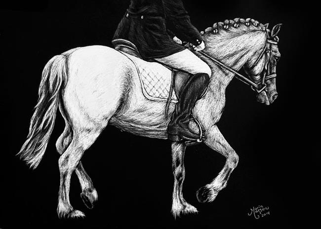 Art: Dressage Pony  (SOLD) by Artist Monique Morin Matson
