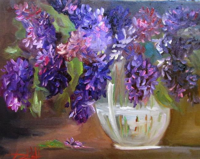 Art: Lilacs in a Vase by Artist Delilah Smith