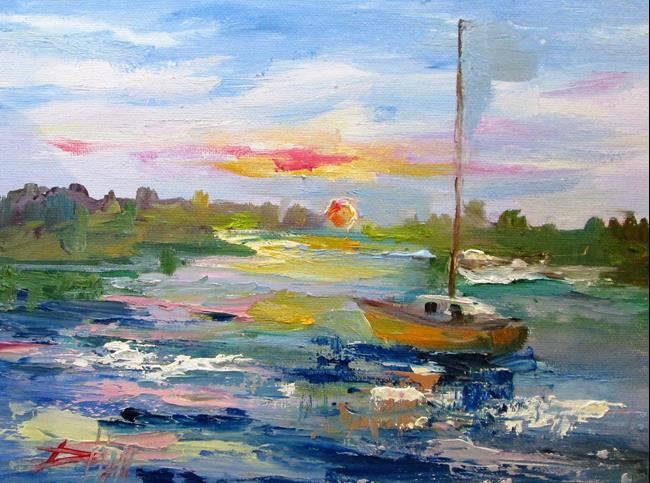 Art: Setting Sun by Artist Delilah Smith