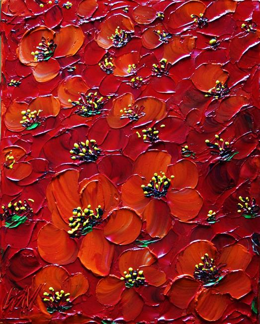 Art: Italy Red Poppies by Artist LUIZA VIZOLI
