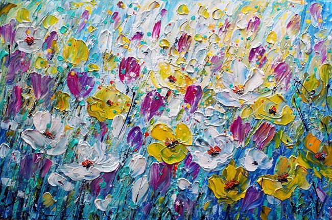 Art: Spring Flowers by Artist LUIZA VIZOLI