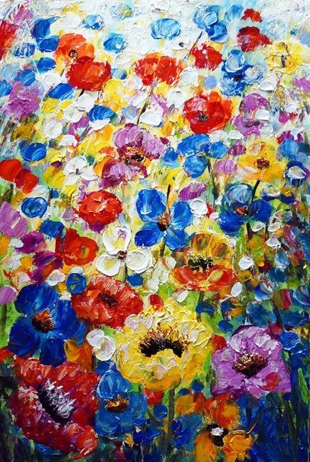 Art: Spring Flowers Mist by Artist LUIZA VIZOLI