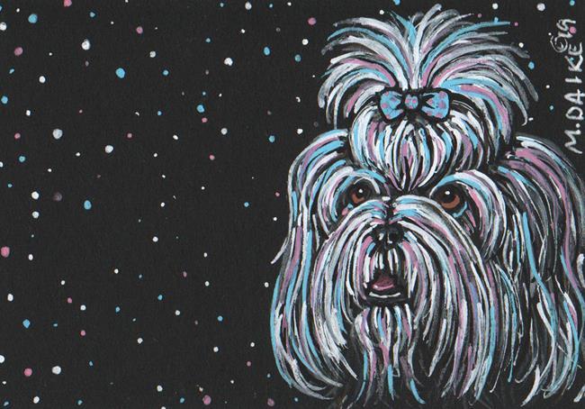 Art: Stars 5 - Shih Tzu by Artist Melinda Dalke