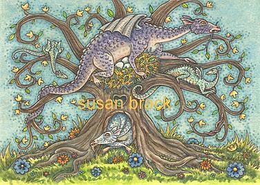 Art: DRAGON TREE by Artist Susan Brack