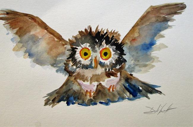 Art: Flying Owl by Artist Delilah Smith