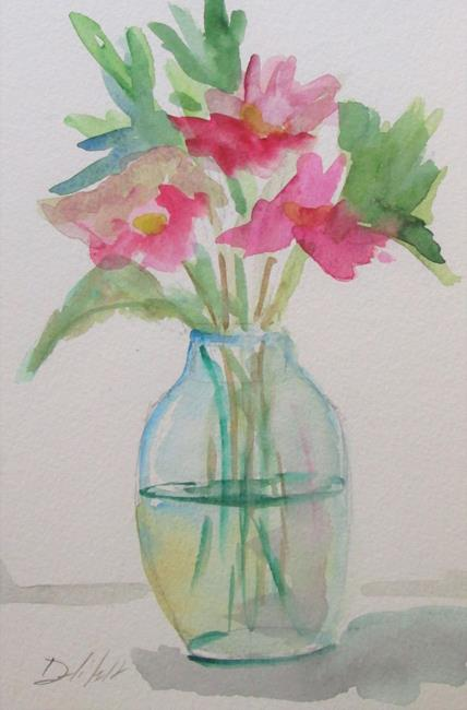 Art: Pink Flowers No. 4 by Artist Delilah Smith