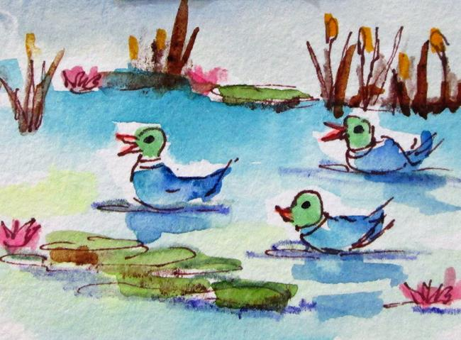 Art: Duck Pond No. 2=sold by Artist Delilah Smith