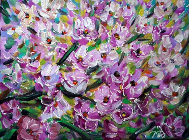 Art: SPRING CHERRY FLOWERS by Artist LUIZA VIZOLI