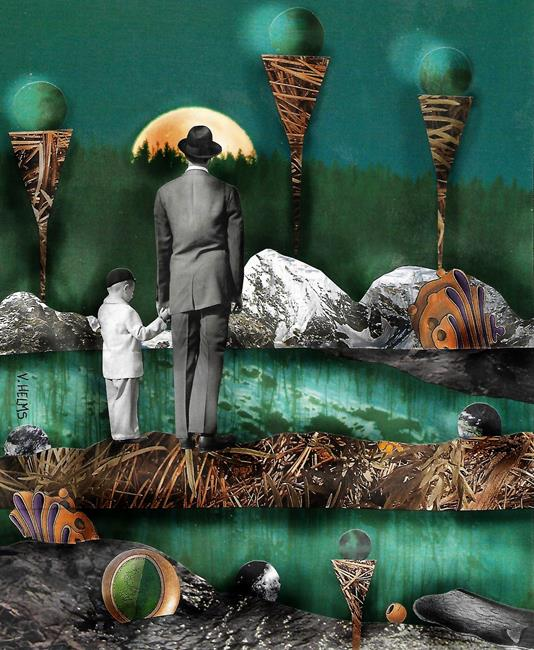 Art: Sane New World by Artist Vicky Helms