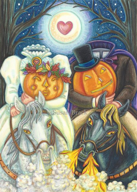 Art: SLEEPY HOLLOW WEDDING by Artist Susan Brack