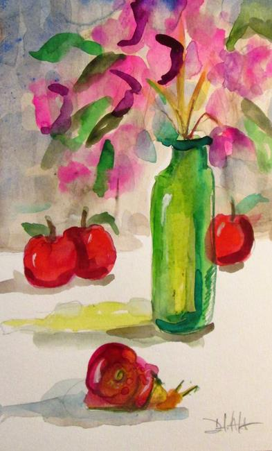 Art: Still Life with Snail by Artist Delilah Smith