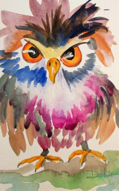 Art: Owl No. 14 by Artist Delilah Smith
