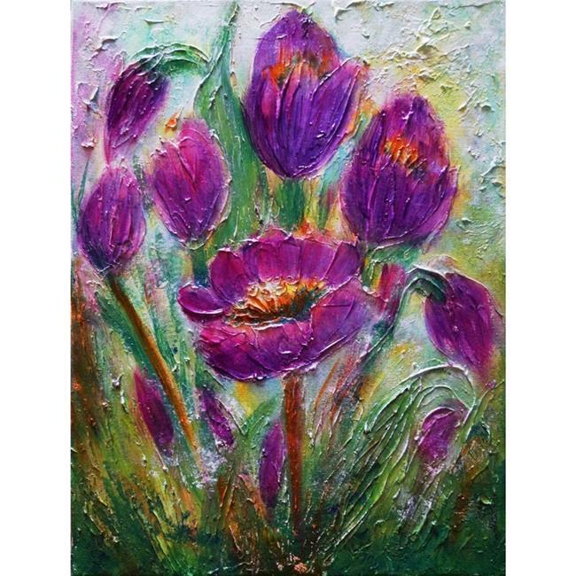 Art: CROCUS FLOWERS by Artist LUIZA VIZOLI