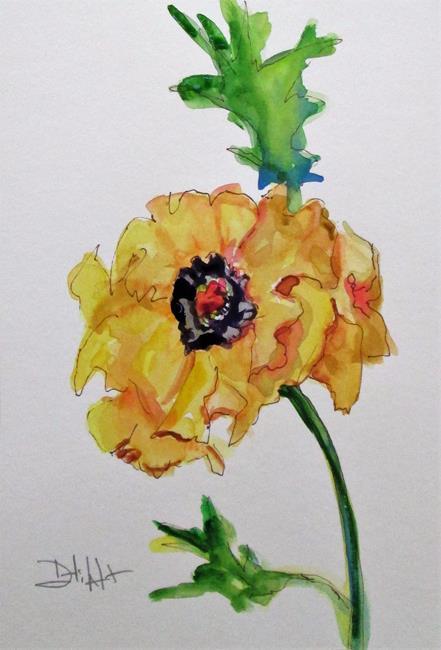 Art: Yellow Poppy by Artist Delilah Smith