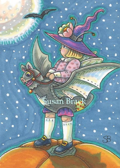 Art: HALLOWEEN FAIRY by Artist Susan Brack