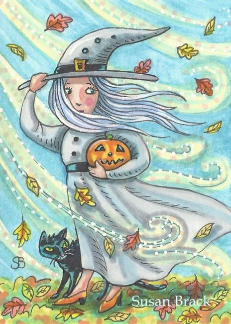 Art: WINDY WENDY by Artist Susan Brack