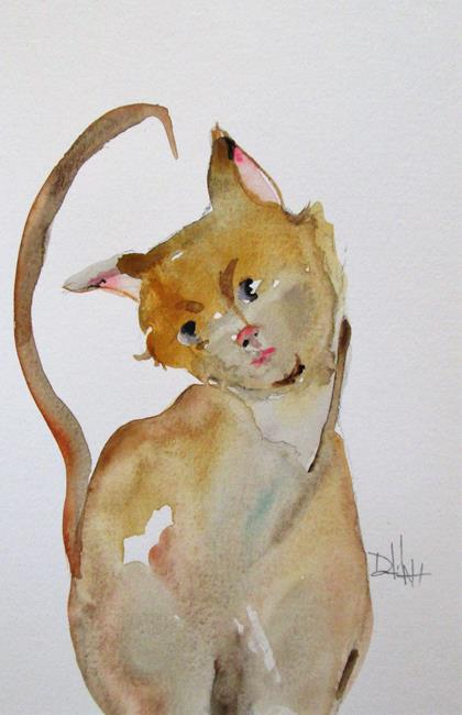 Art: Curious Cat by Artist Delilah Smith