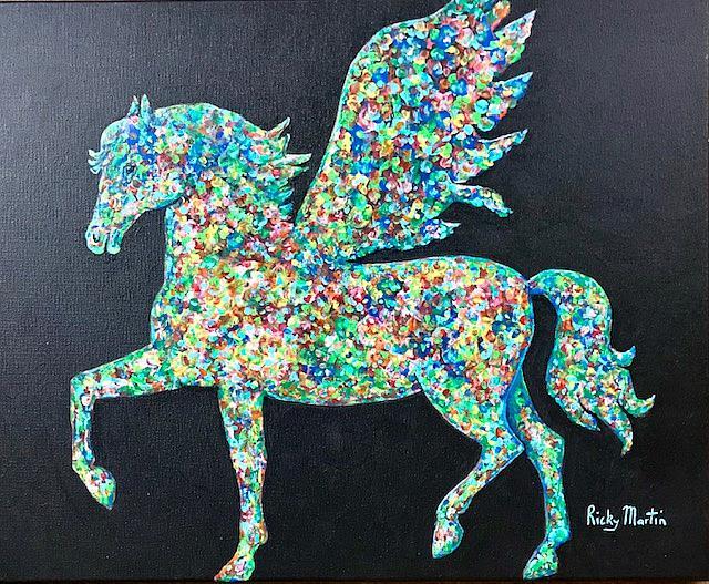 Art: Pegasus by Artist Ulrike 'Ricky' Martin