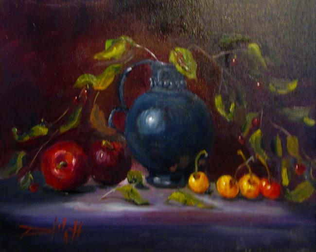 Art: Cherries and Plums by Artist Delilah Smith