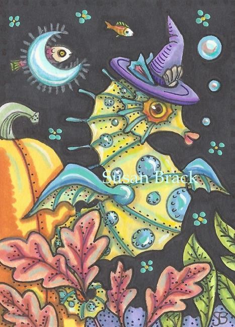 Art: BLACK MAGIC IN A HALLOWEEN SEA by Artist Susan Brack