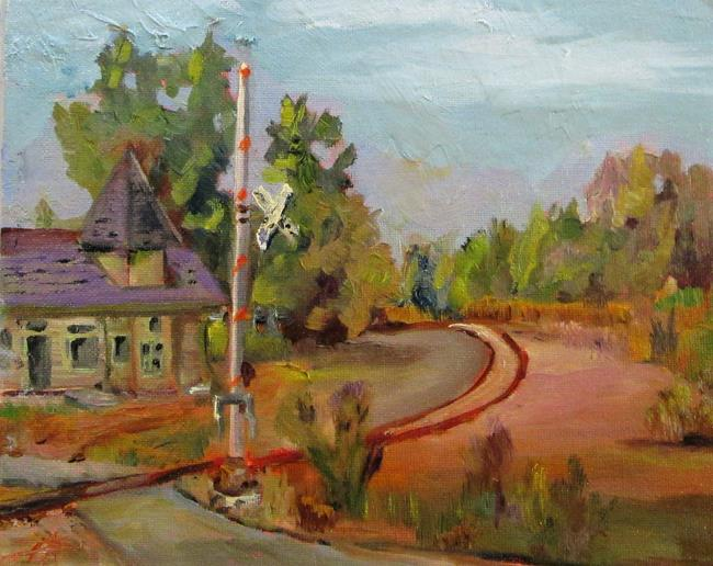 Art: Rail Road Crossing by Artist Delilah Smith